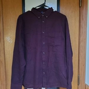 H&M Maroon Button Up T-Shirt